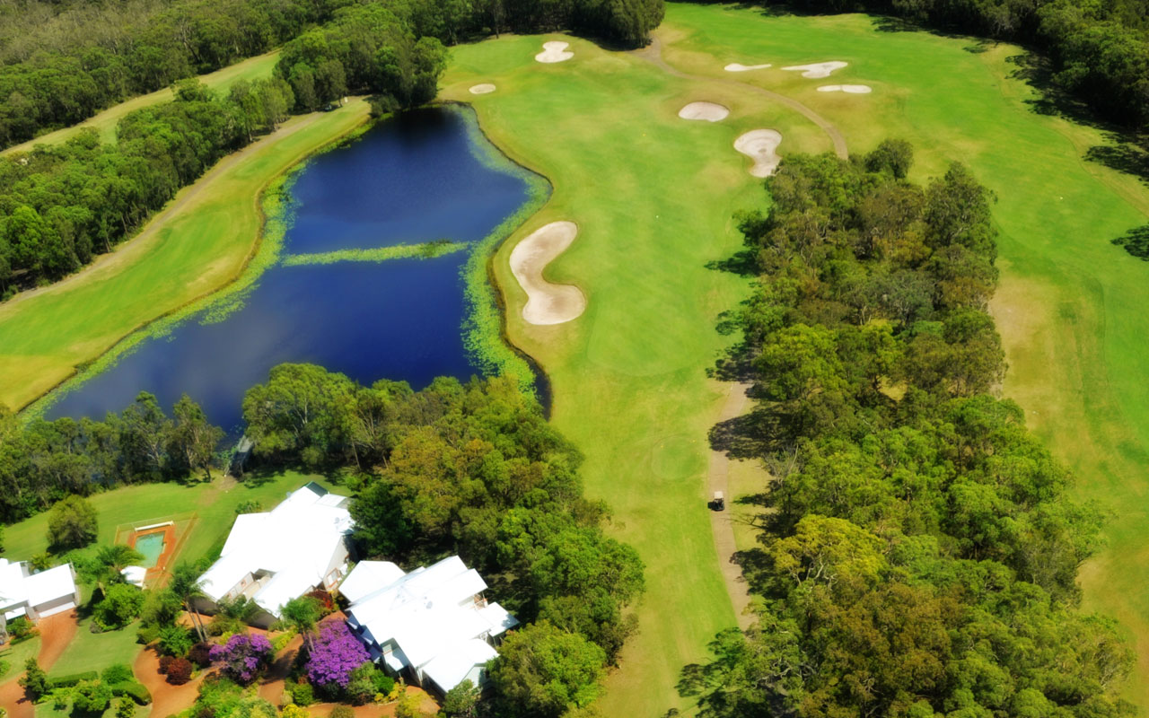 The 14th Hole from above