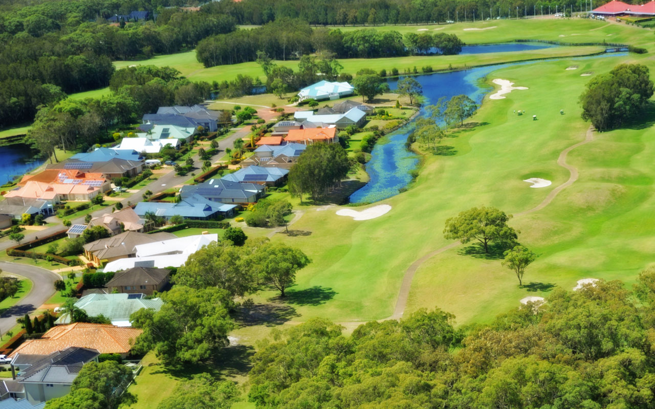 The 18th Hole from above