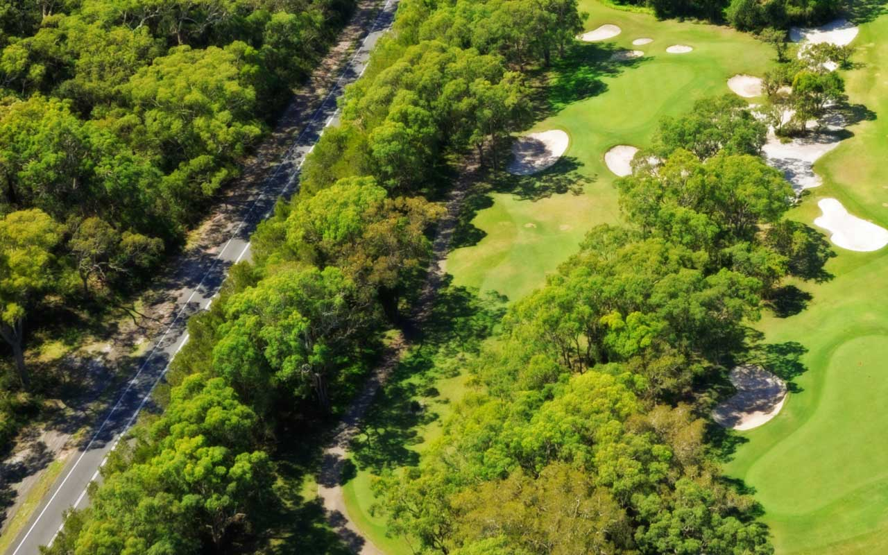 The 4th hole from above