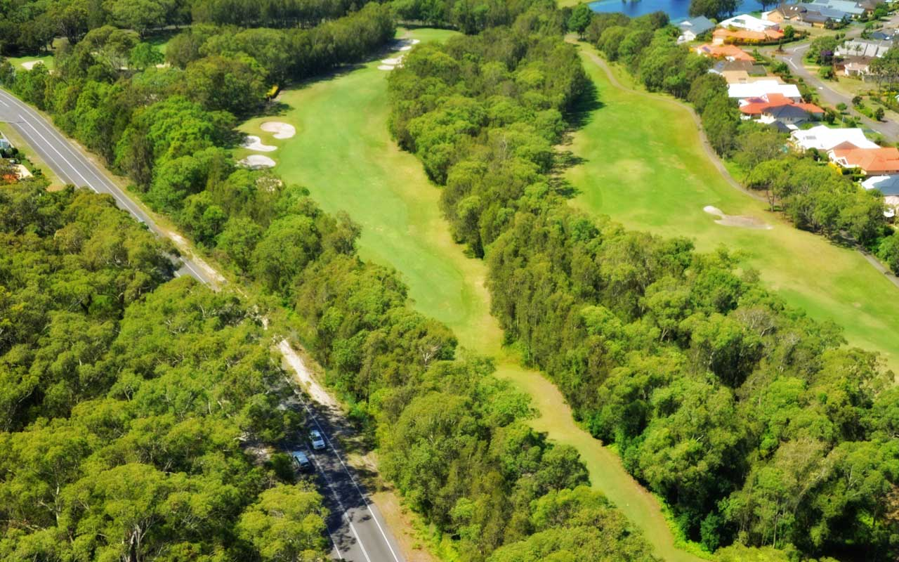 The 5th Hole from above