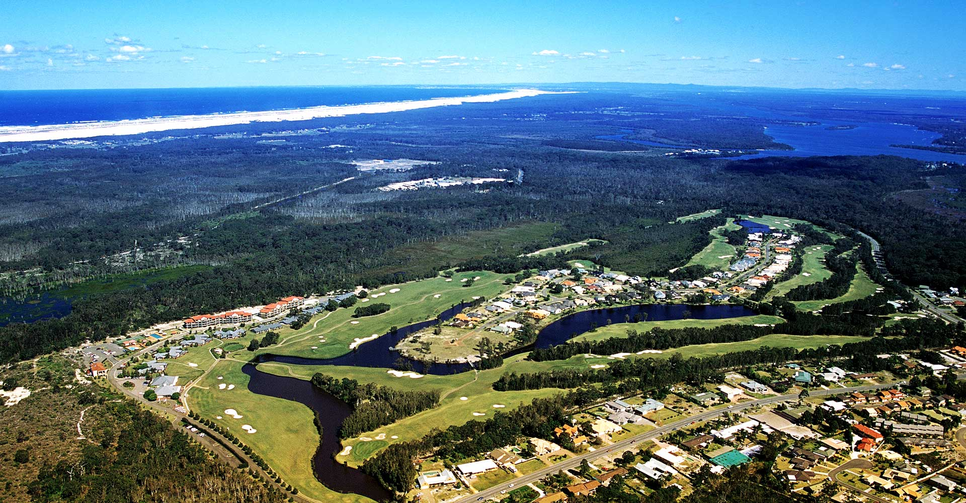 Aerial view over Horizons Golf Resort