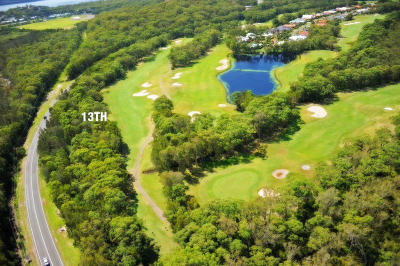 The 13th Hole from above