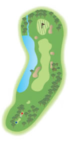 The 14th hole diagram