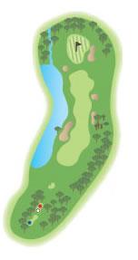The 14th hole diagram