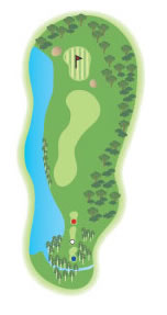 The 15th hole diagram