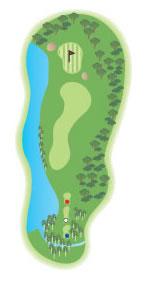 The 15th hole diagram